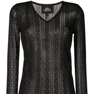 Marc Jacobs Pointelle VNeck Sweater